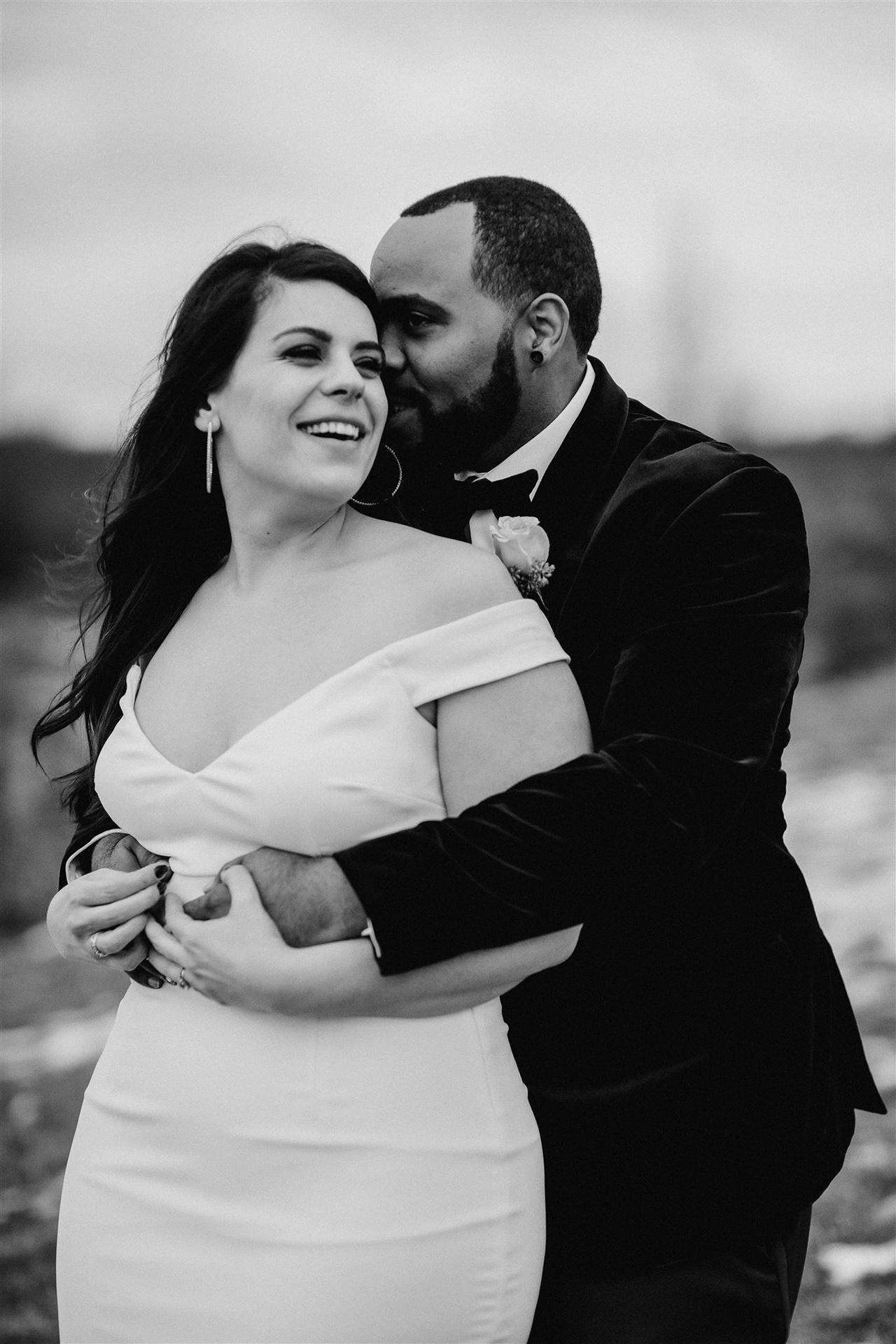 stephanie taurean wedding couple