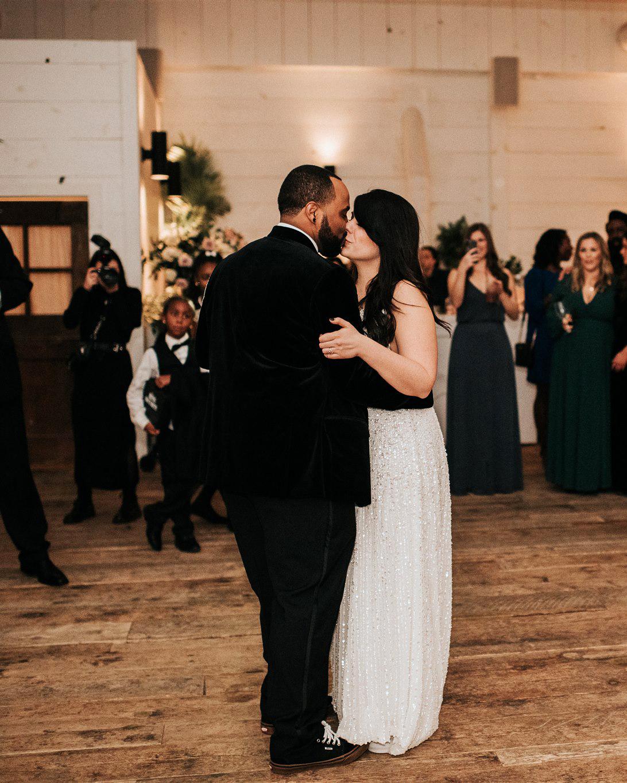 stephanie taurean wedding dance couple