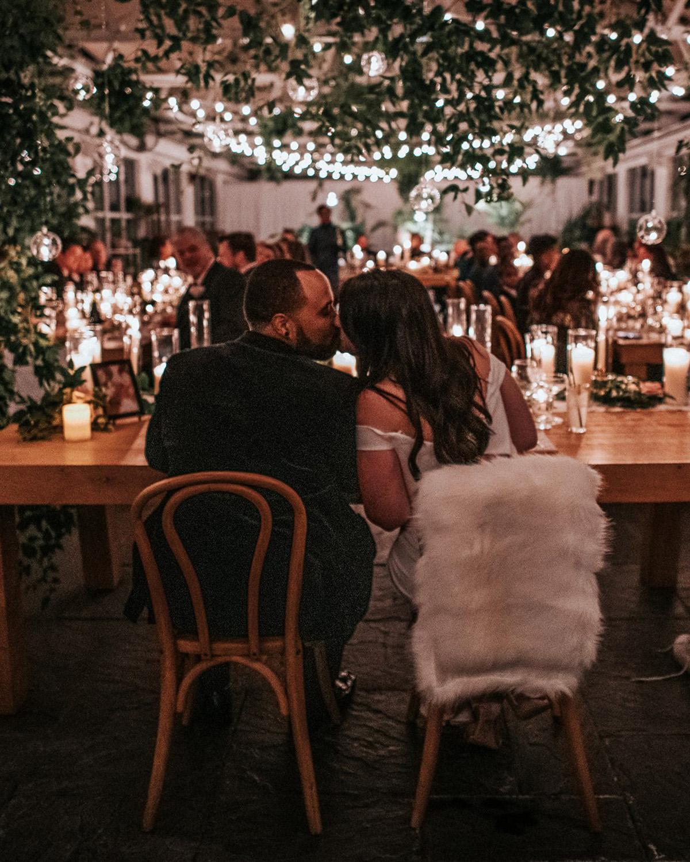 stephanie taurean wedding dinner sweetheart table
