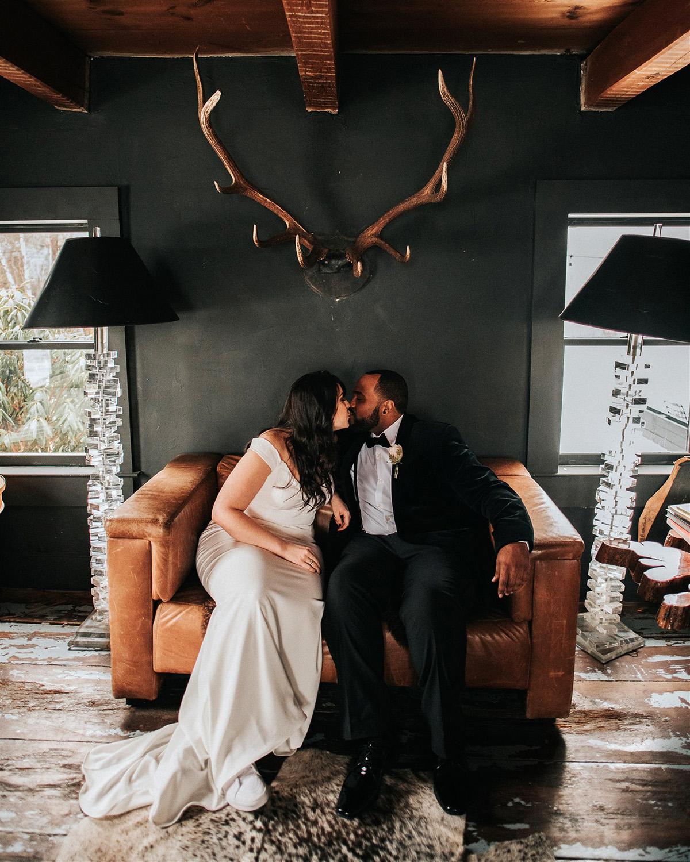 stephanie taurean wedding first look kiss
