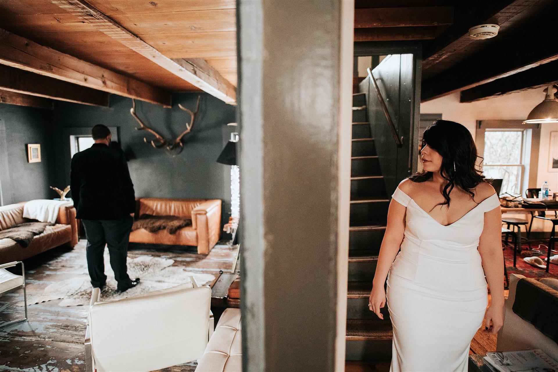 stephanie taurean wedding first look