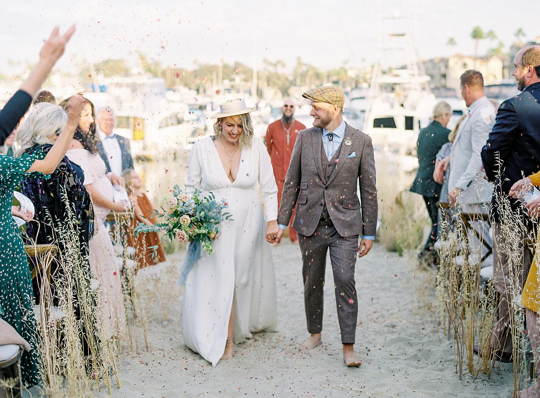 janelle stephen wedding ceremony recessional couple