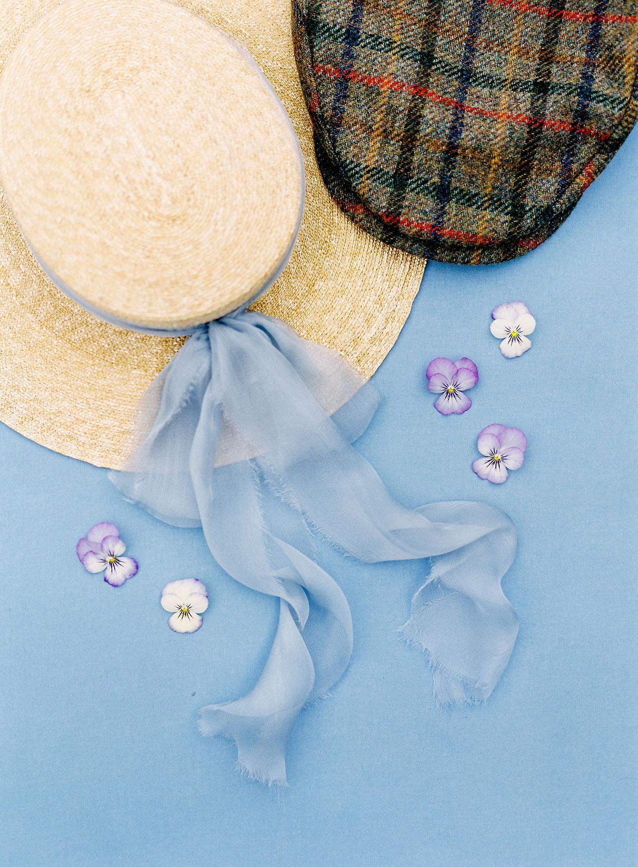 janelle stephen wedding hats