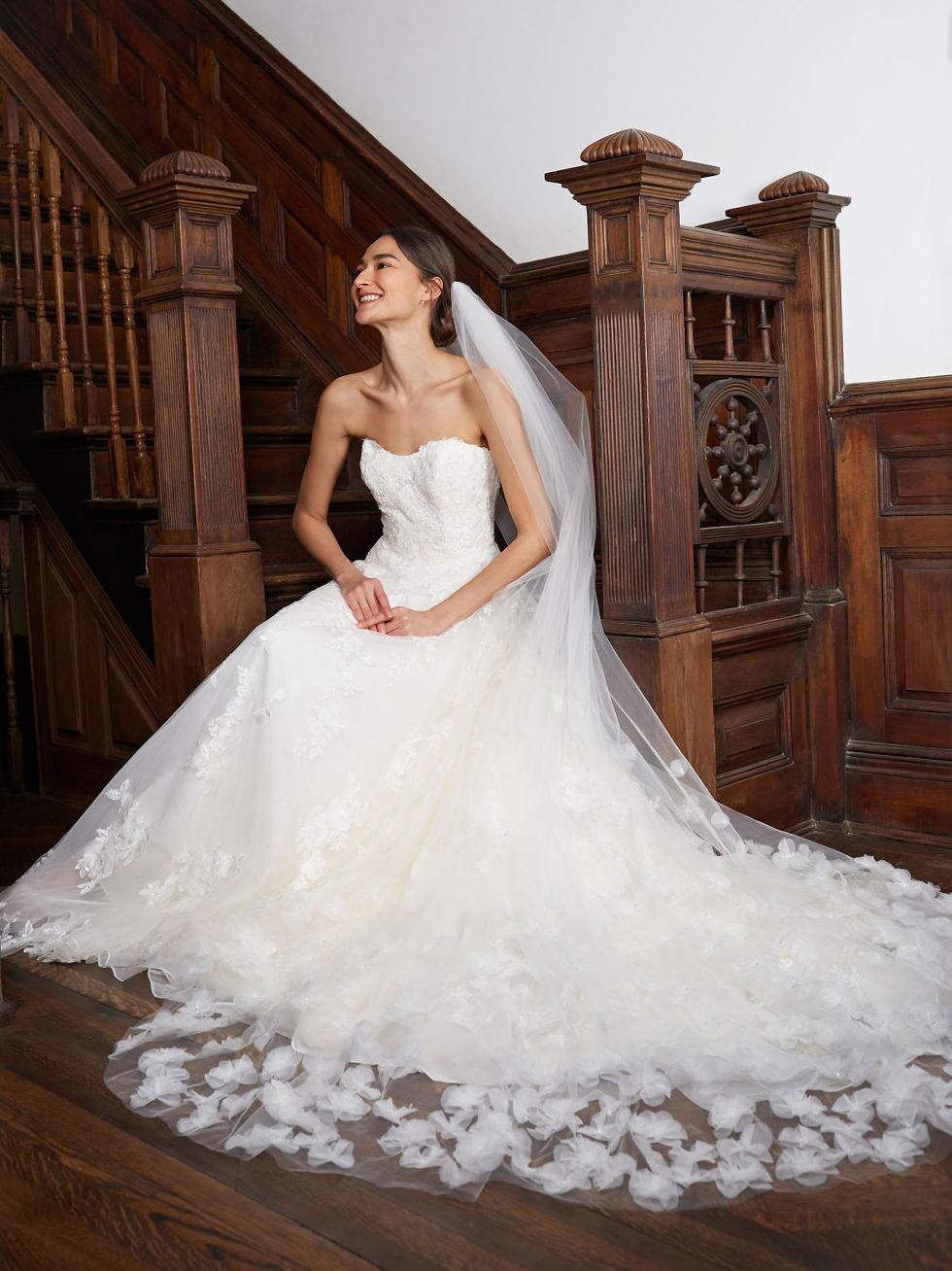 BHLDN semi-sweetheart strapless a-line wedding dress fall 2020
