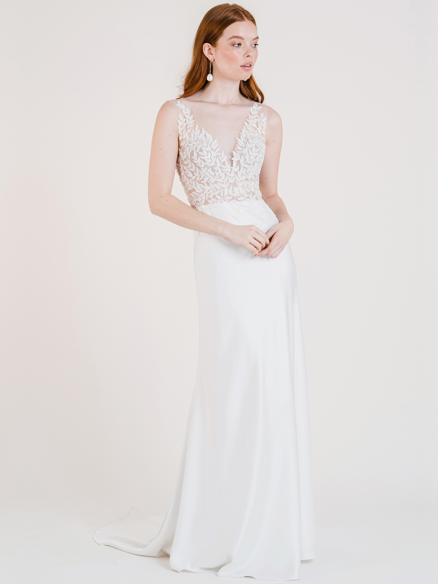 jenny by jenny yoo sleeveless v-neck a-line wedding dress fall 2020