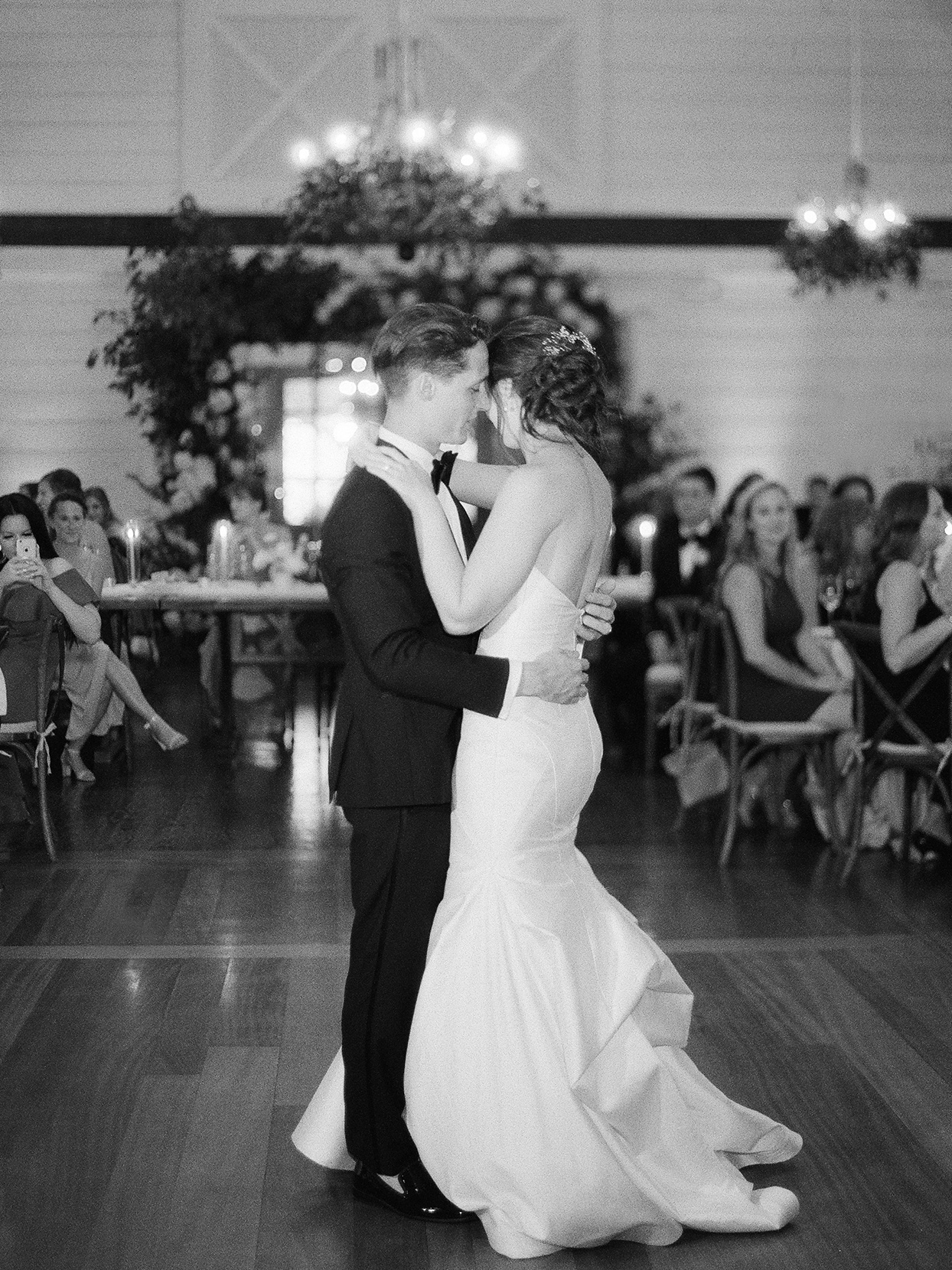 wedding couple during first dance