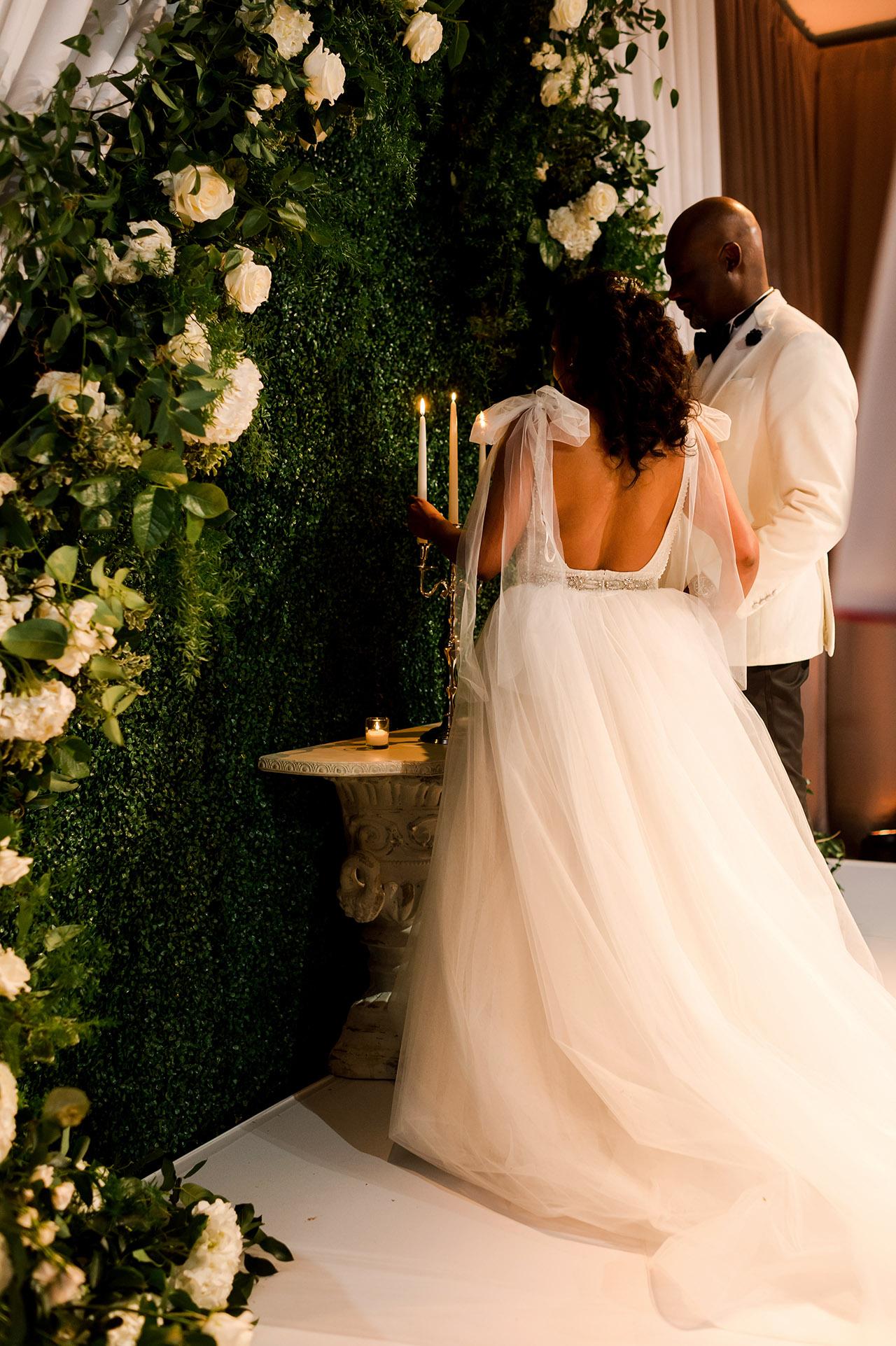 denita john wedding ceremony couple