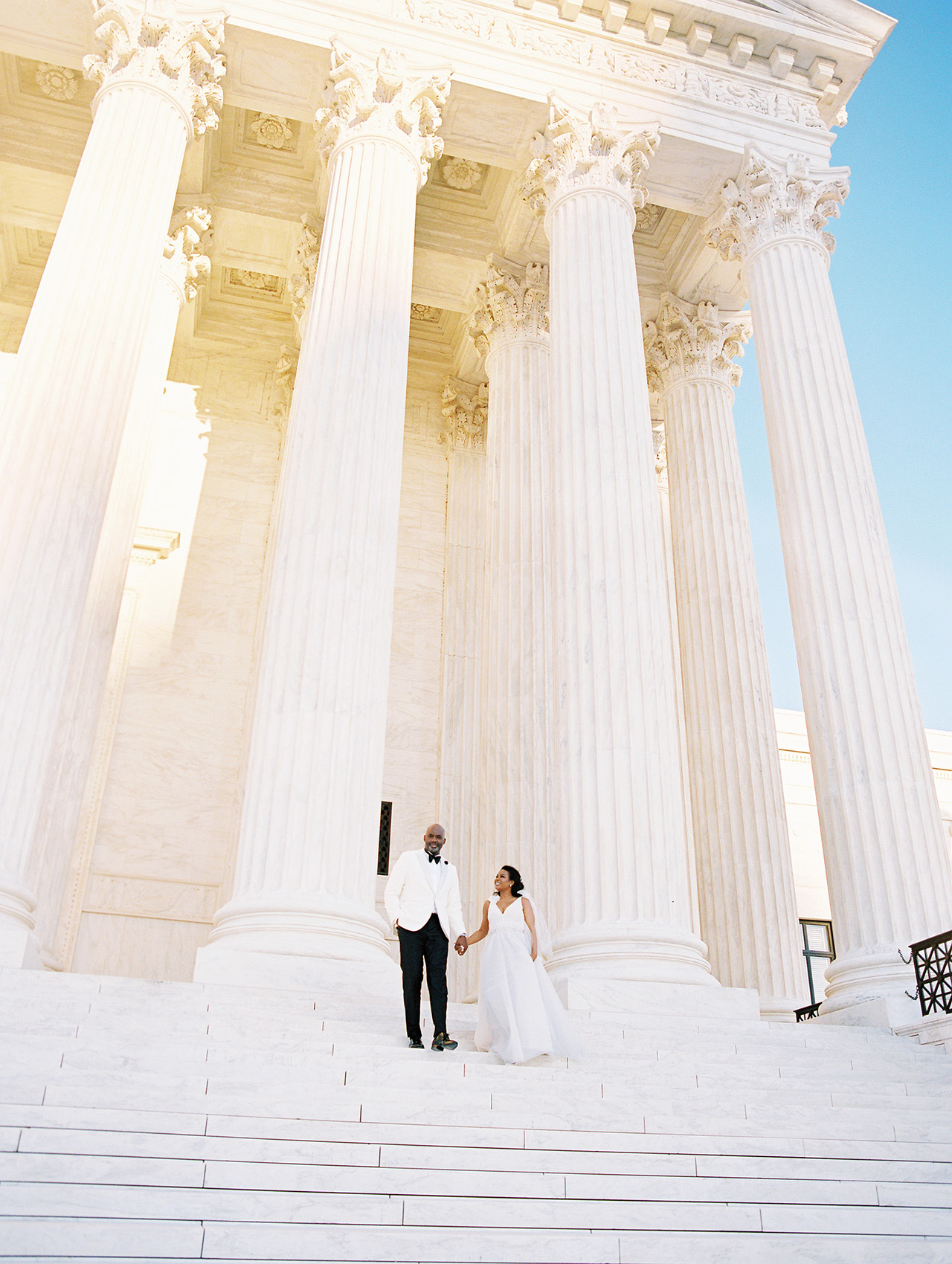 denita john wedding couple monument