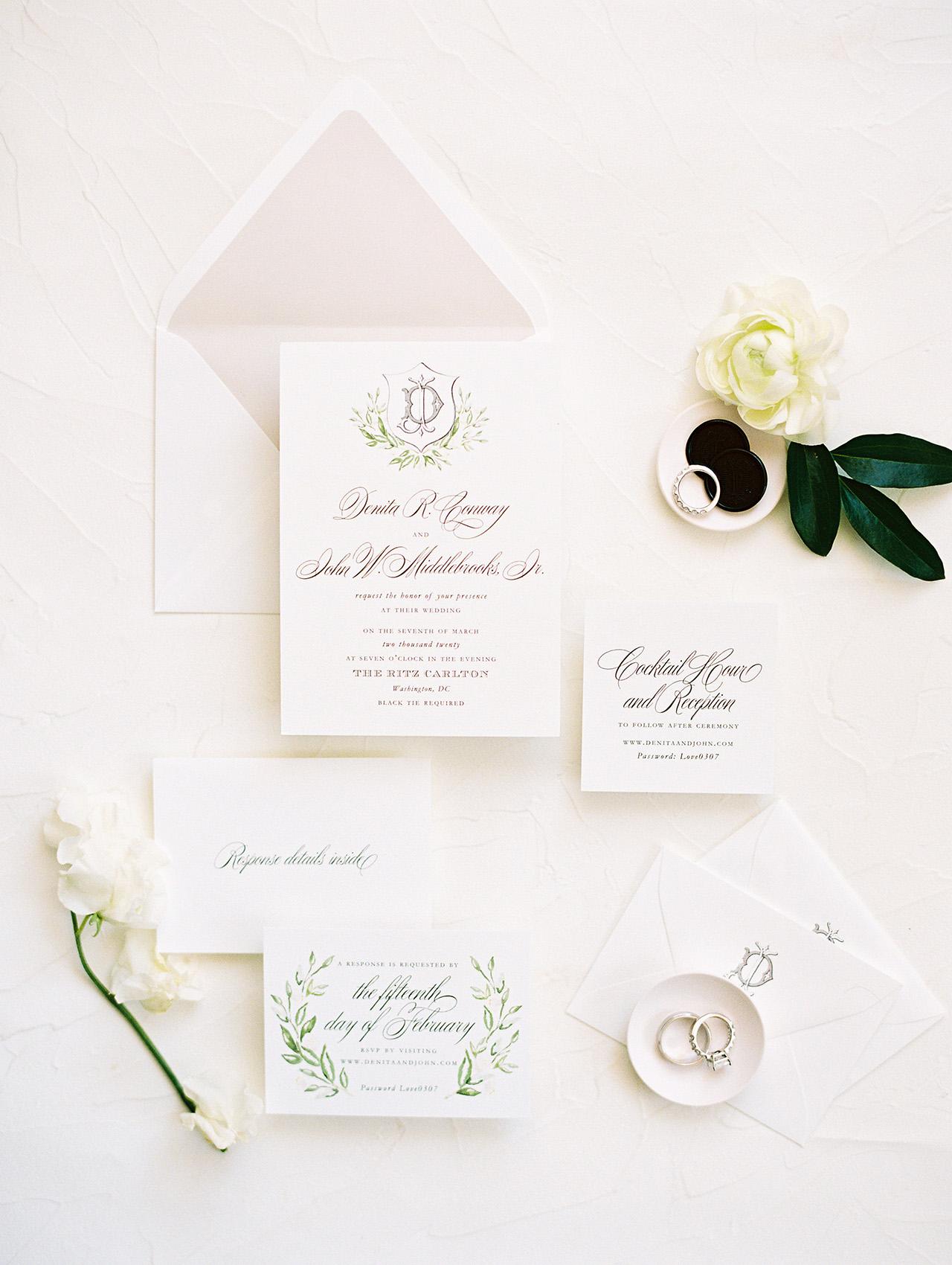 denita john wedding invites