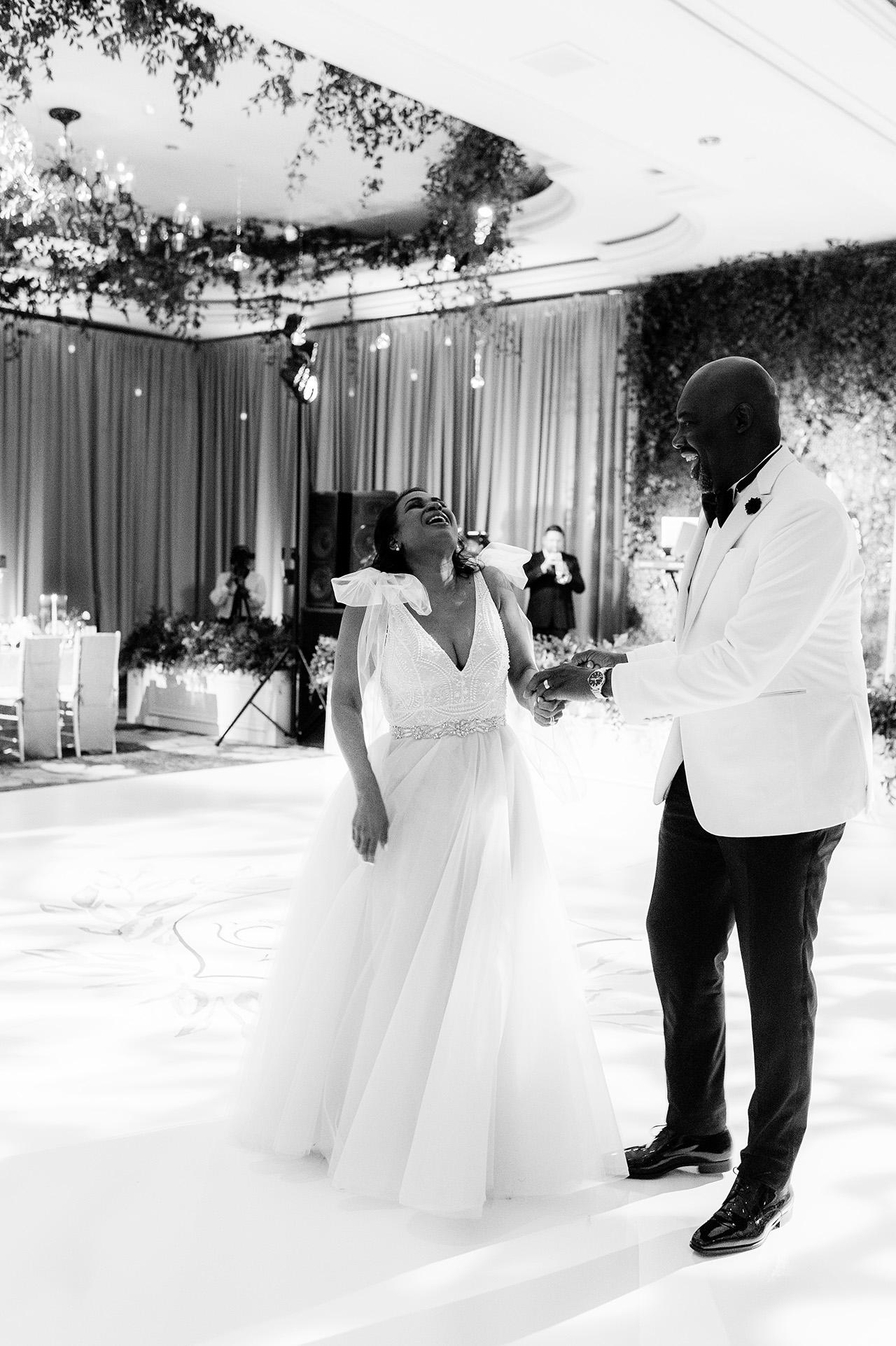 denita john wedding reception couple dancing