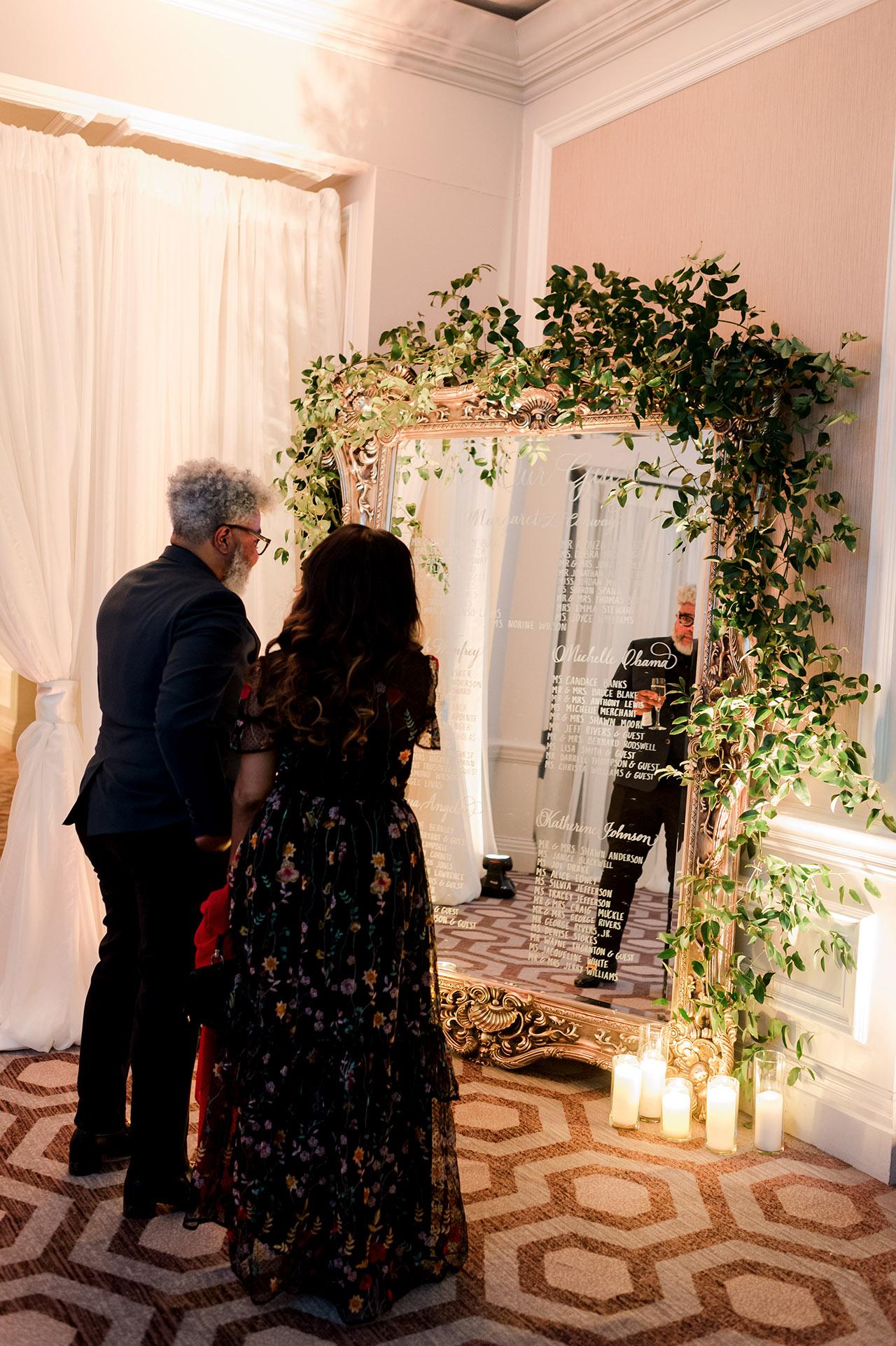 denita john wedding seating chart guests