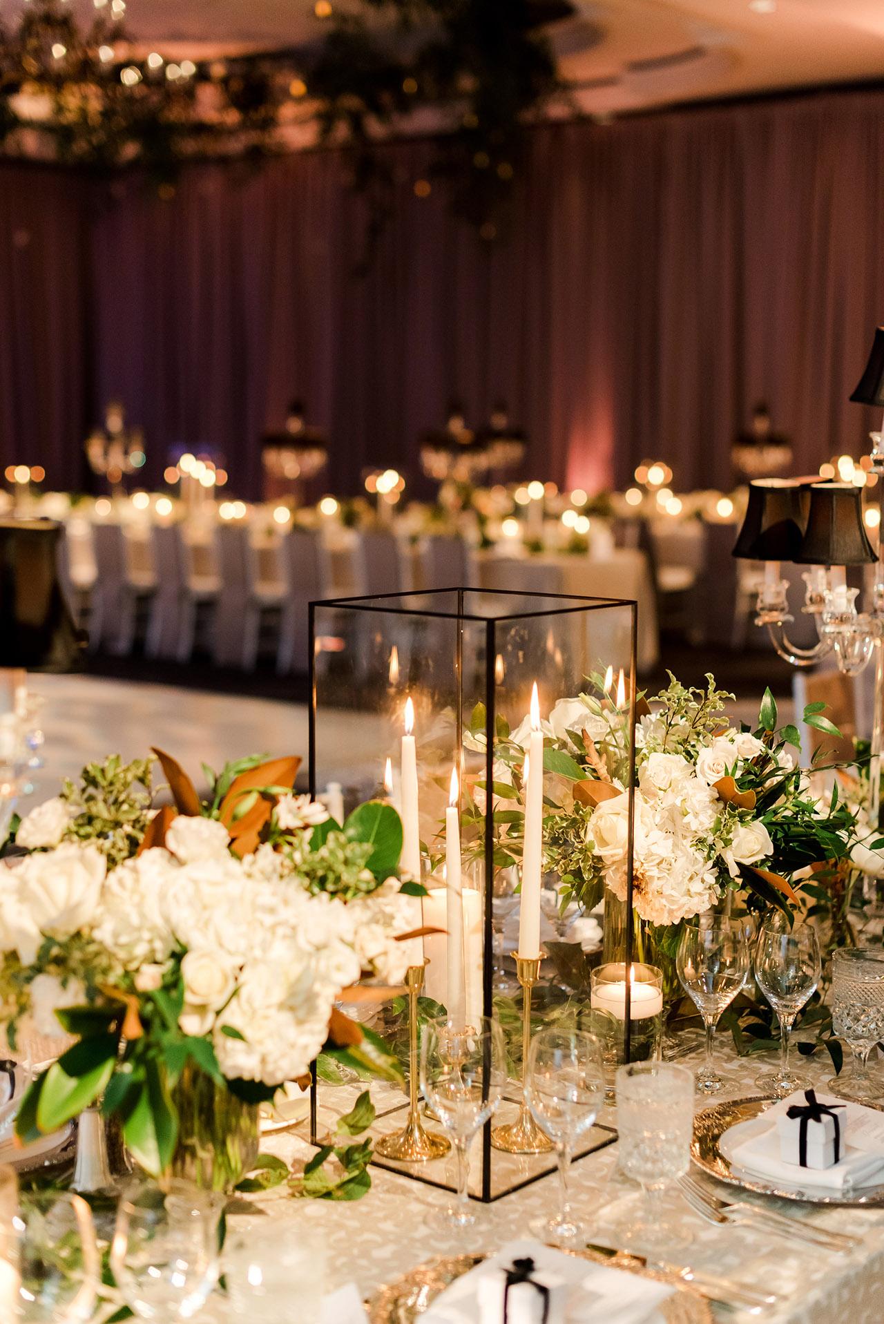 denita john wedding tables reception