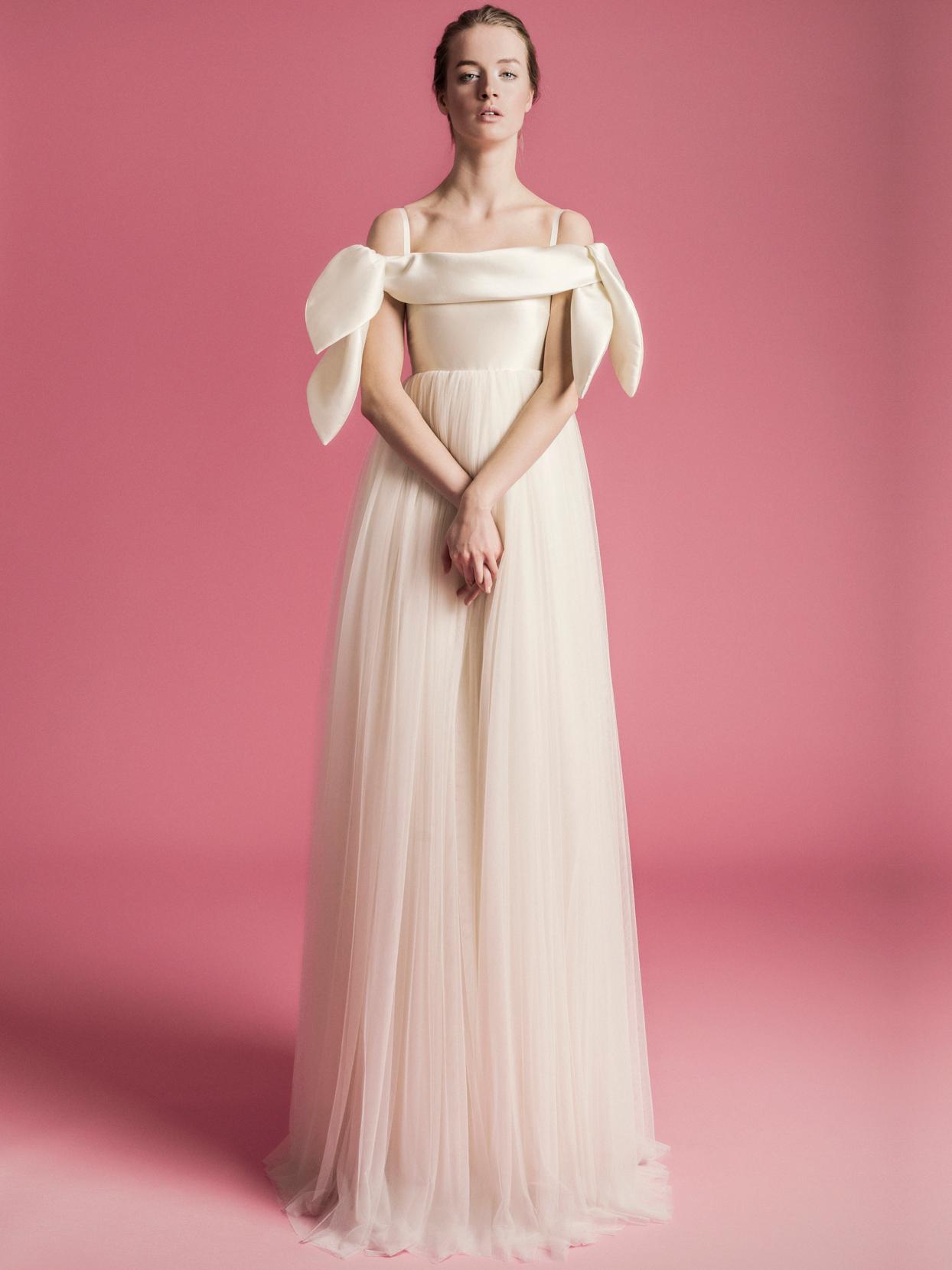 Sophie Et Voilà straight across a-line tulle skirt wedding dress spring 2021