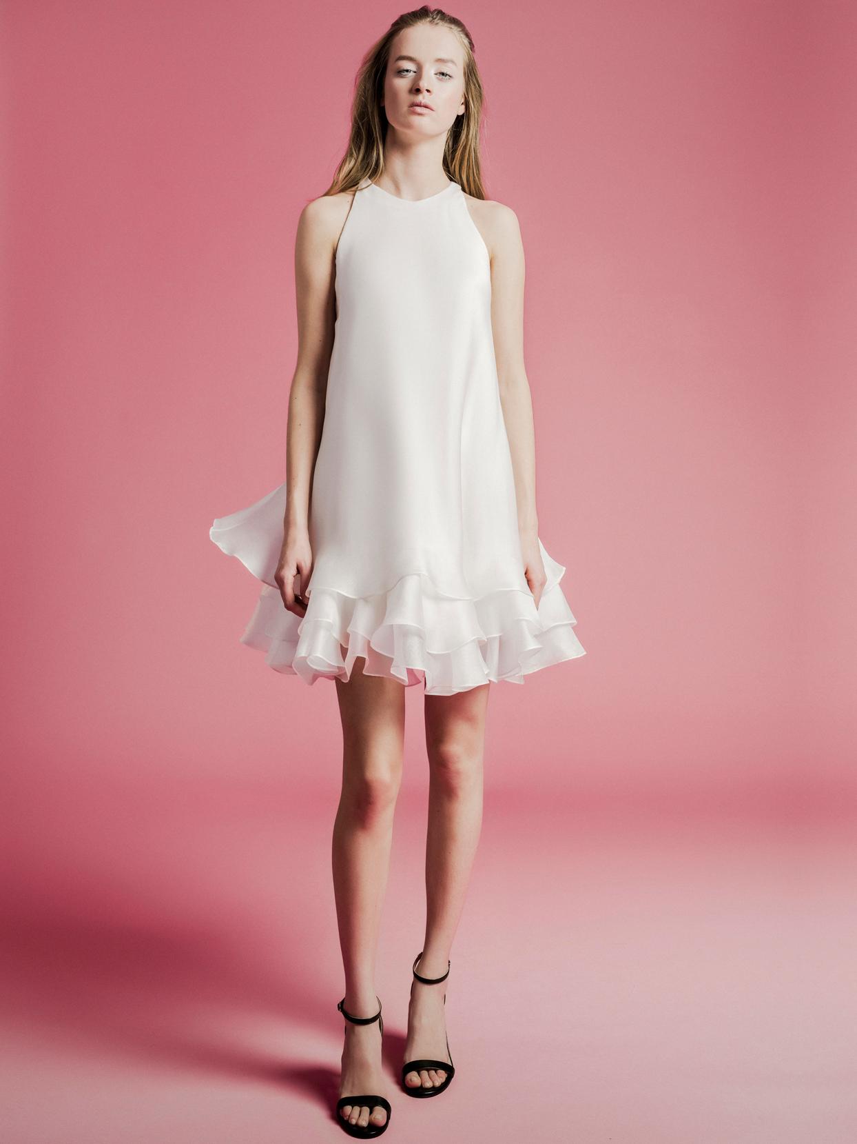 Sophie Et Voilà short ruffled high neck wedding dress spring 2021