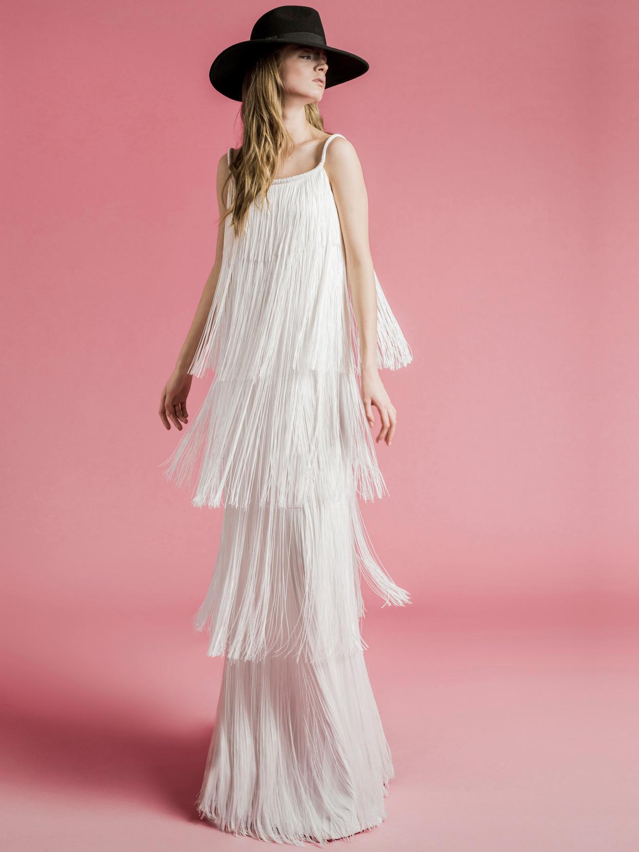 Sophie Et Voilà layered fringe wedding dress spring 2021