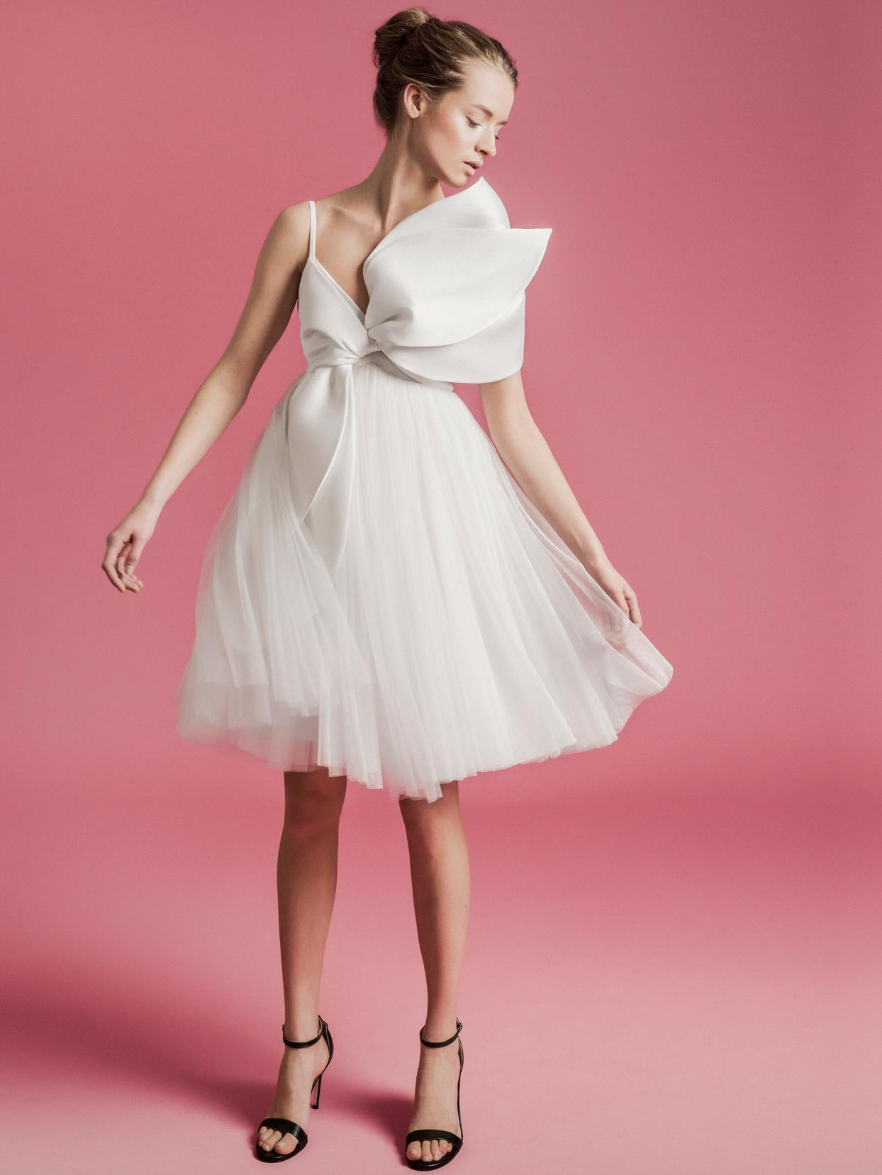 Sophie Et Voilà short tulle skirt bow top wedding dress spring 2021