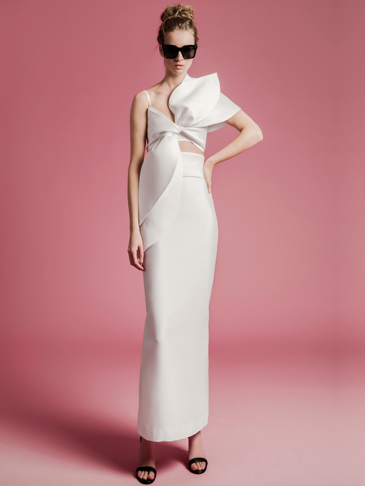 Sophie Et Voilà bow top fitted skirt wedding dress spring 2021