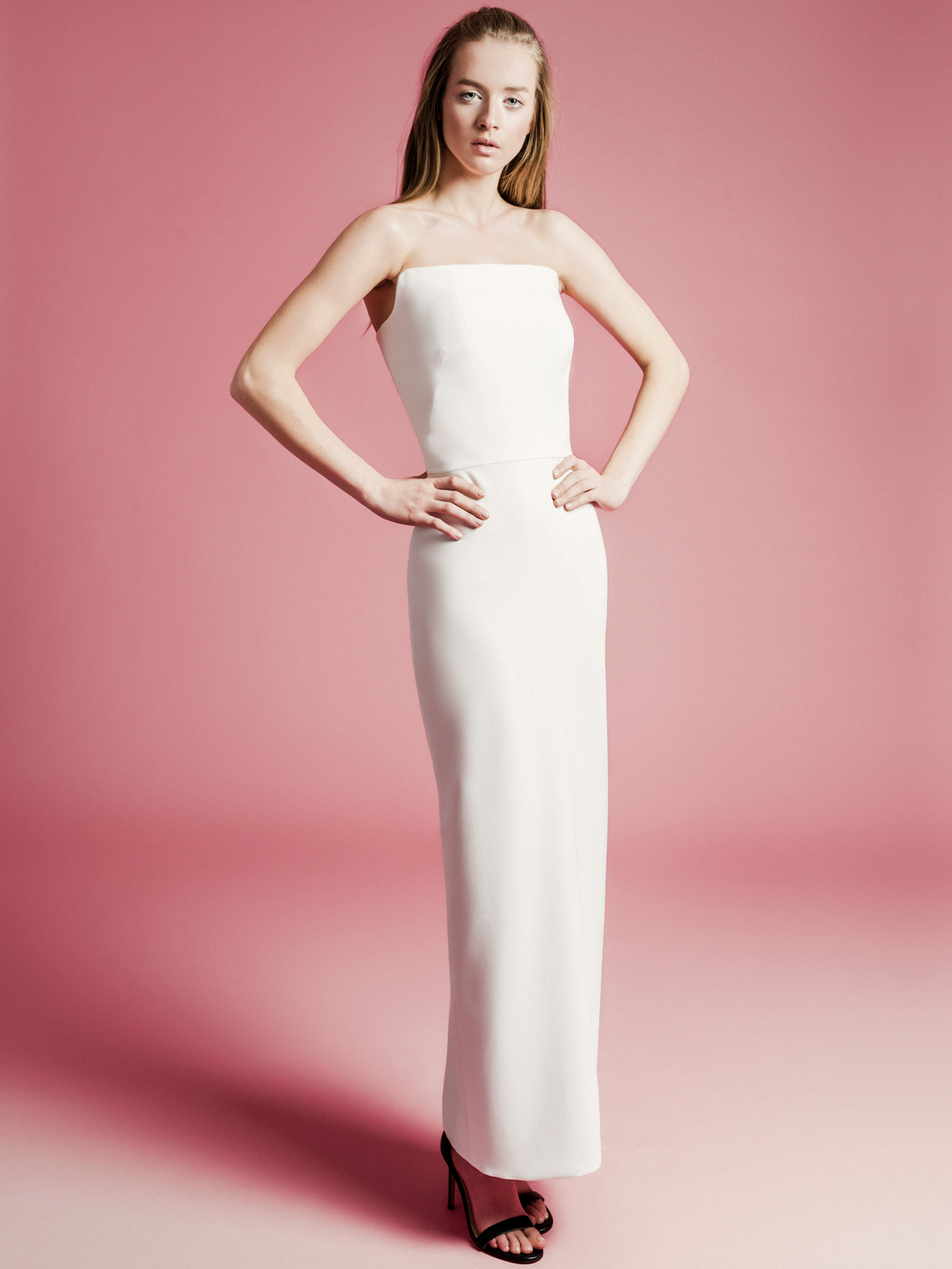 Sophie Et Voilà straight across strapless wedding dress spring 2021