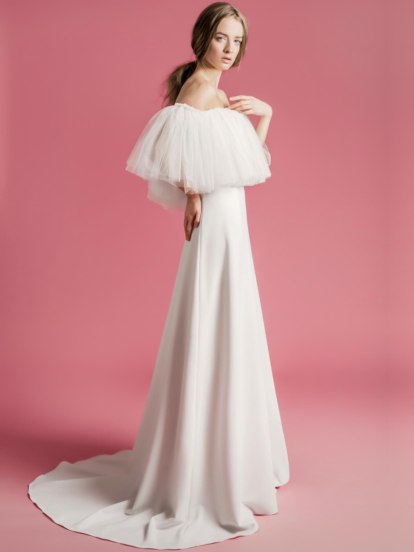Sophie Et Voilà off the shoulder tulle a-line wedding dress spring 2021