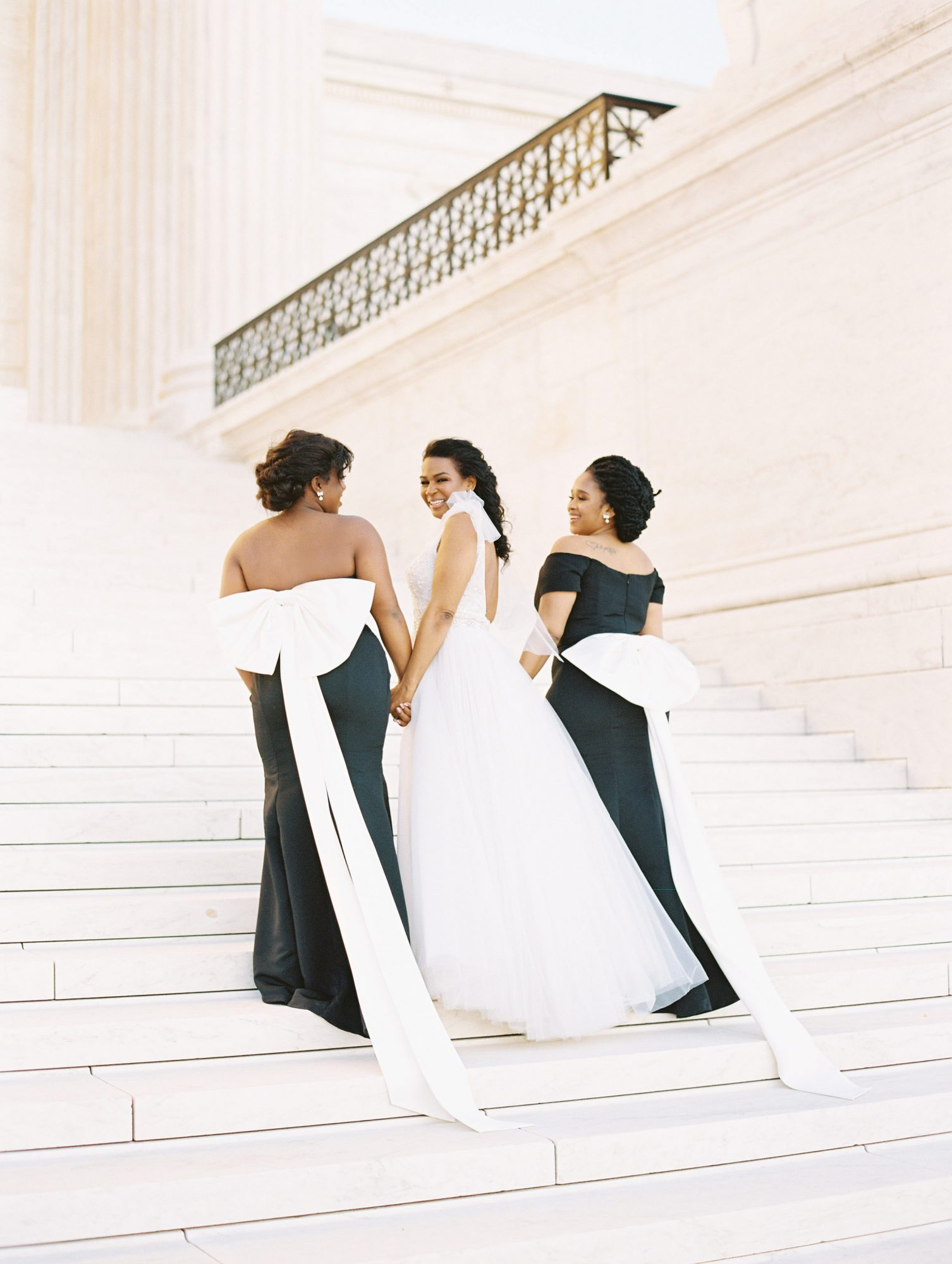 denita john wedding bridesmaids and bride