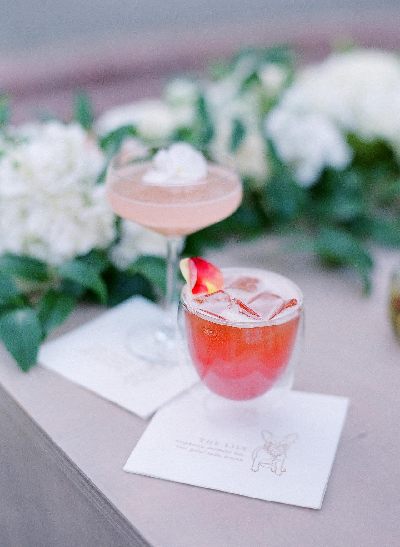 gillian tyler wedding cocktail hour drinks