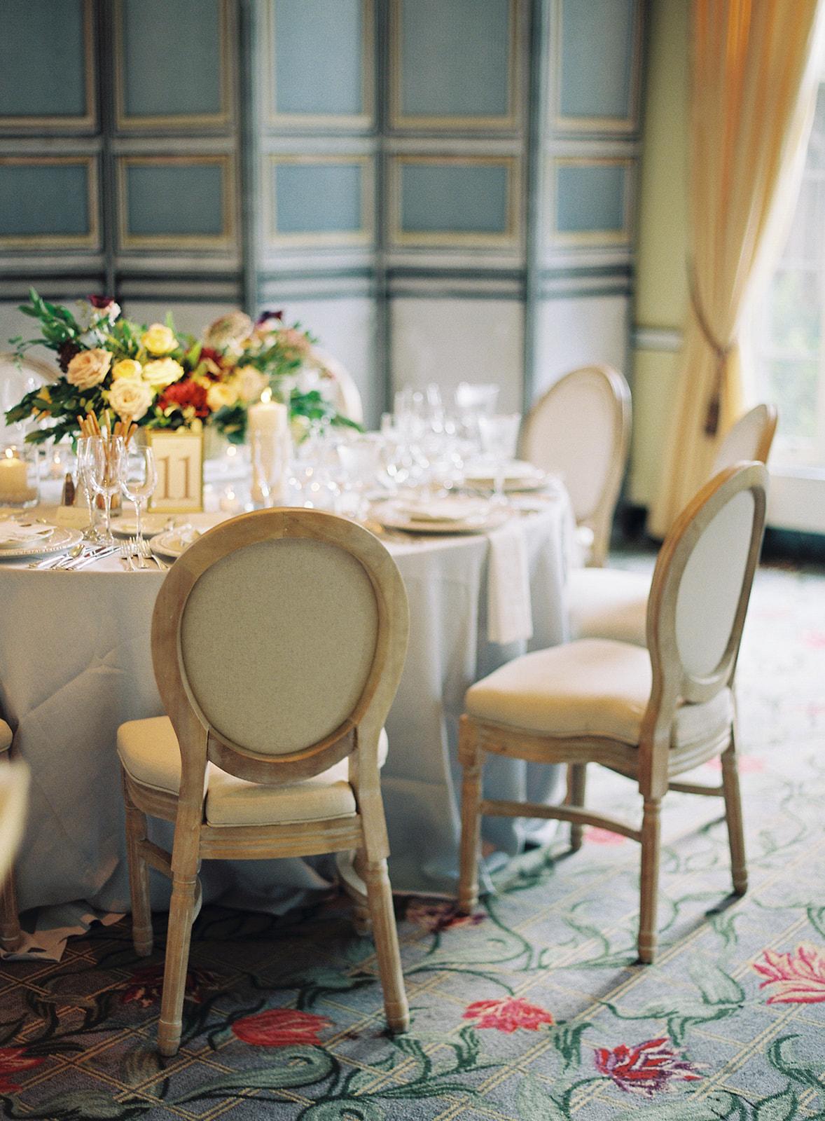 indoor reception table