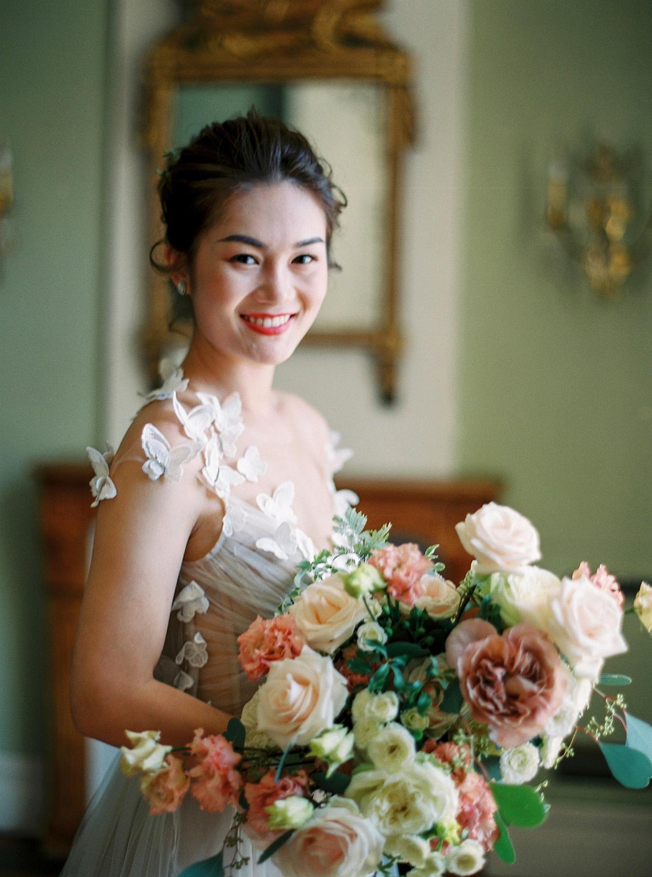 nancy sangho wedding bride bouquet