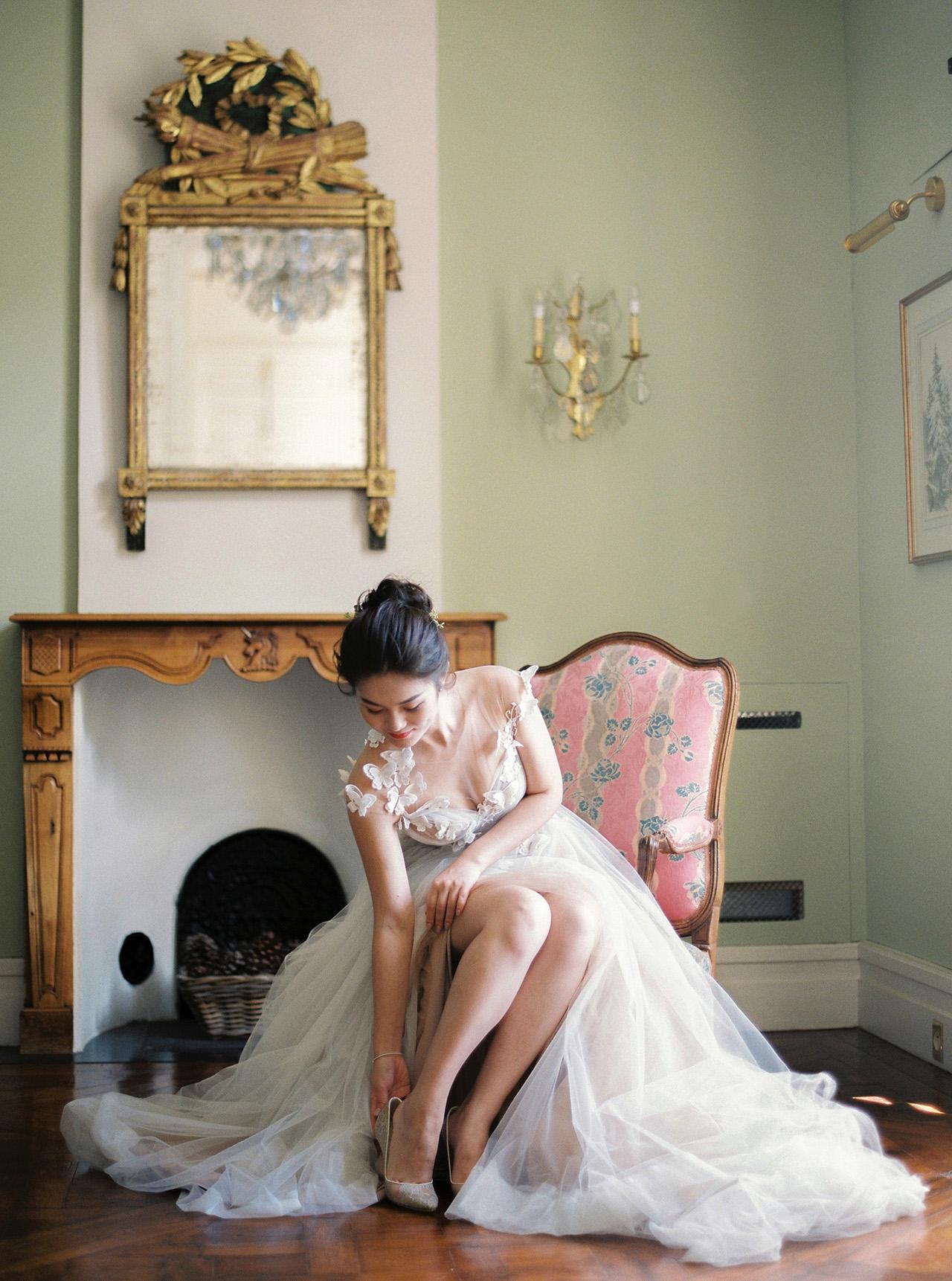 nancy sangho wedding bride getting ready