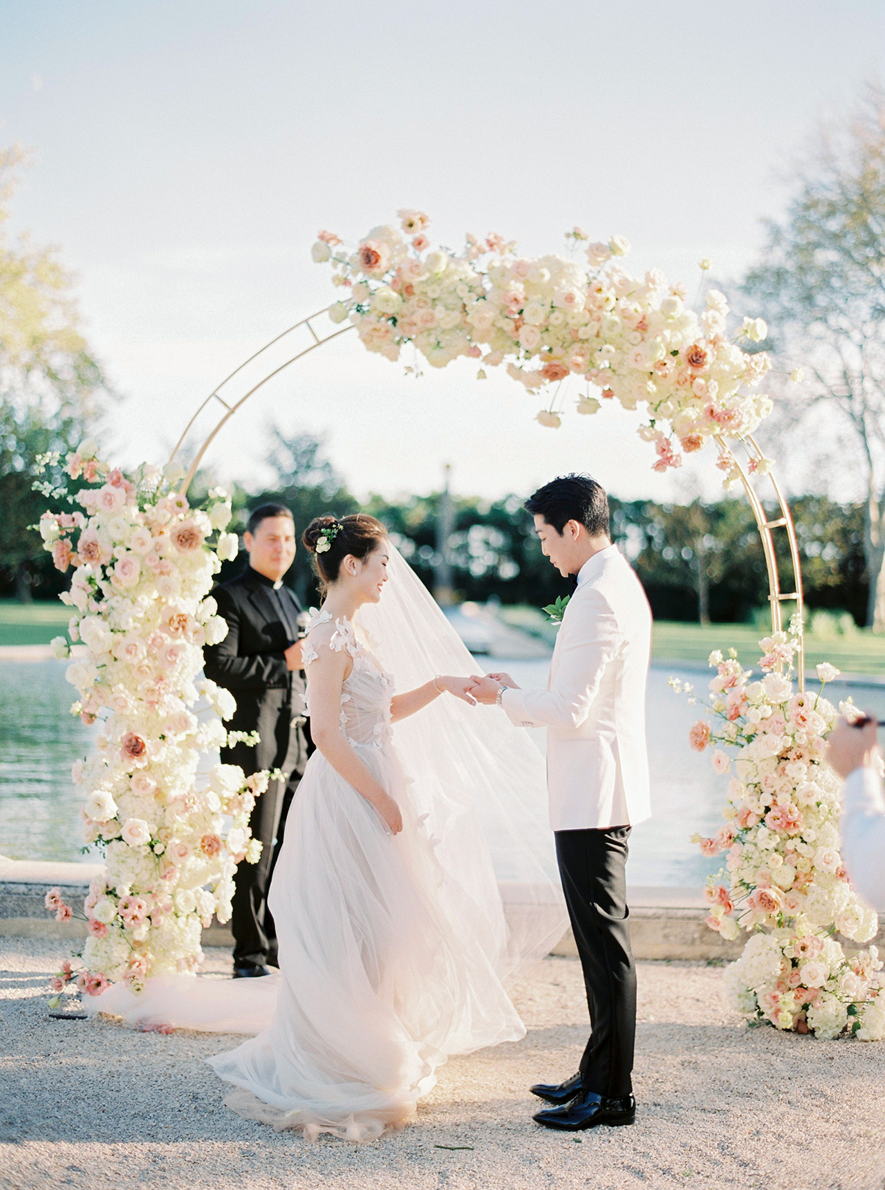 nancy sangho wedding ceremony vows couple