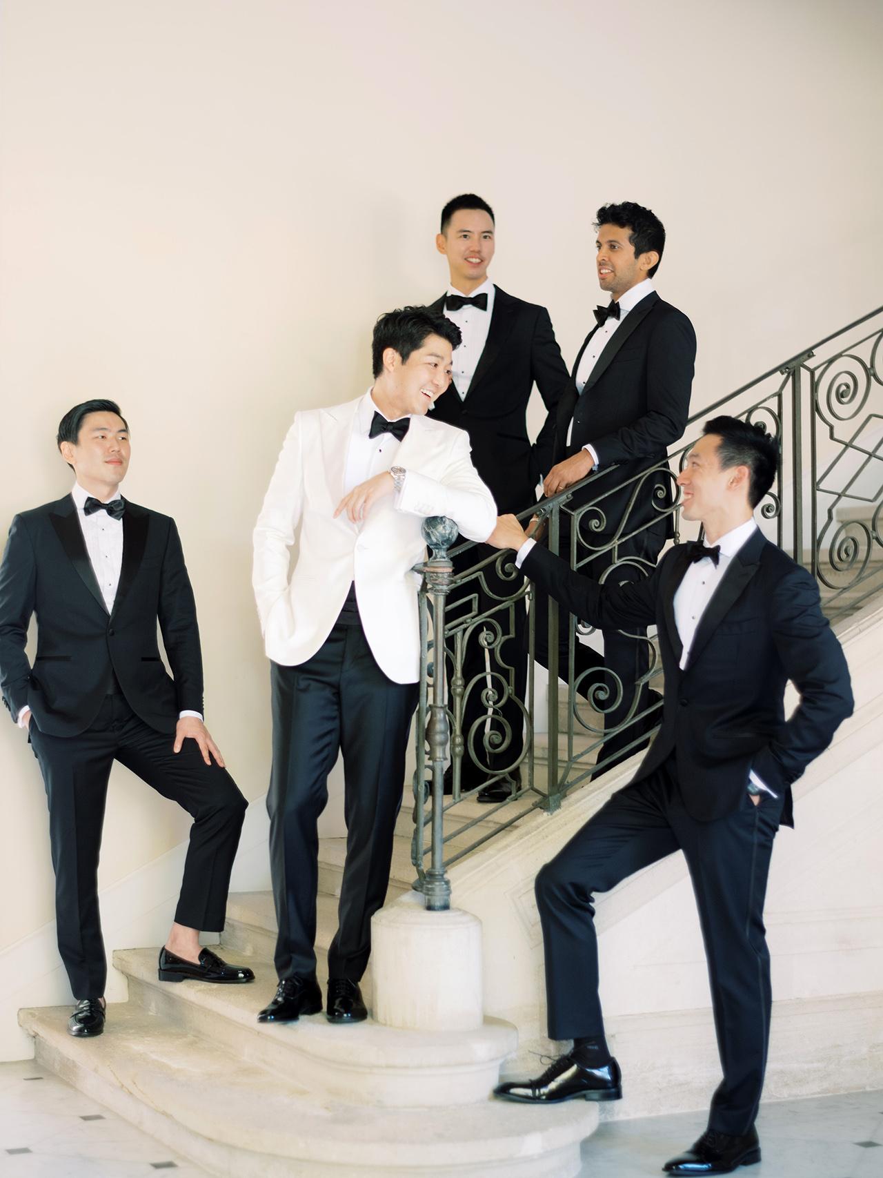 nancy sangho wedding groomsmen groom