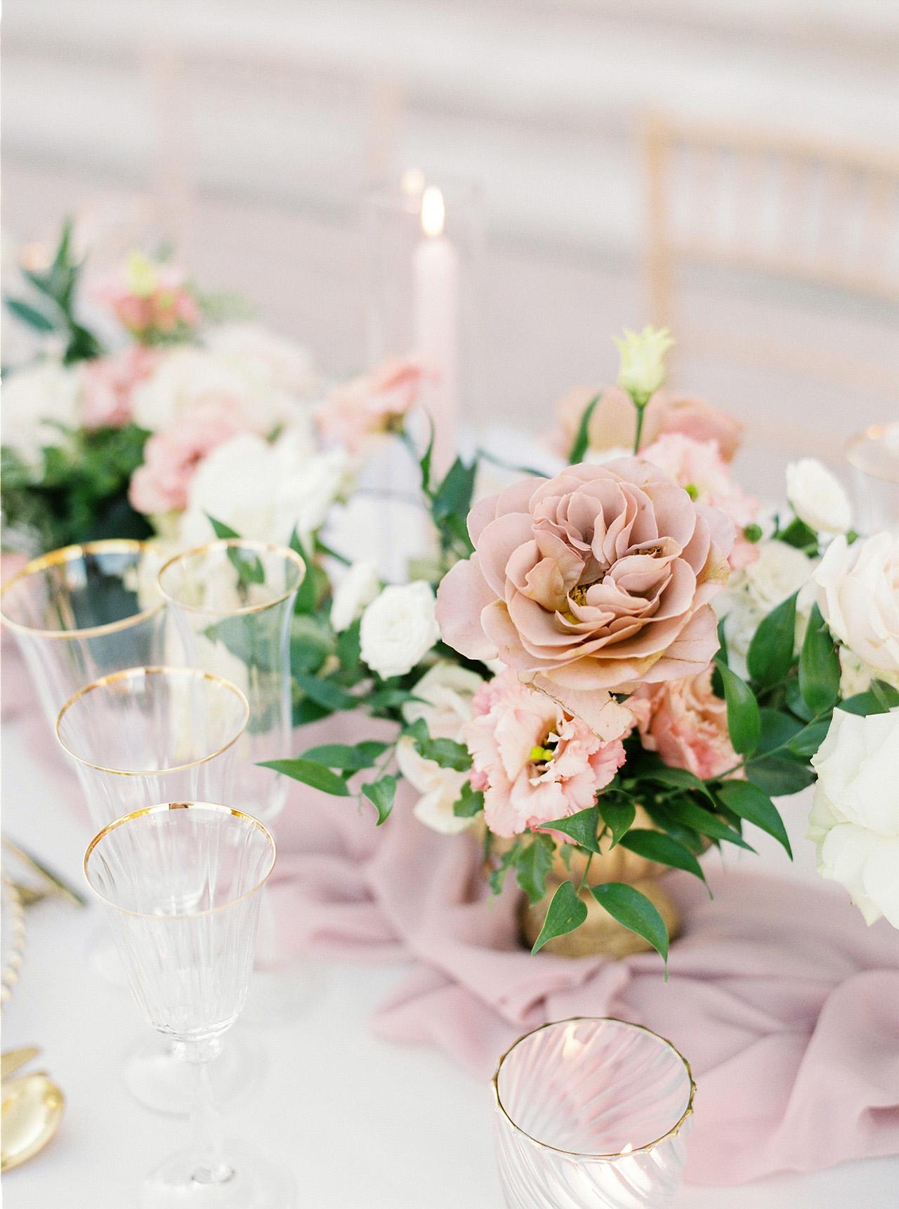 nancy sangho wedding reception flowers