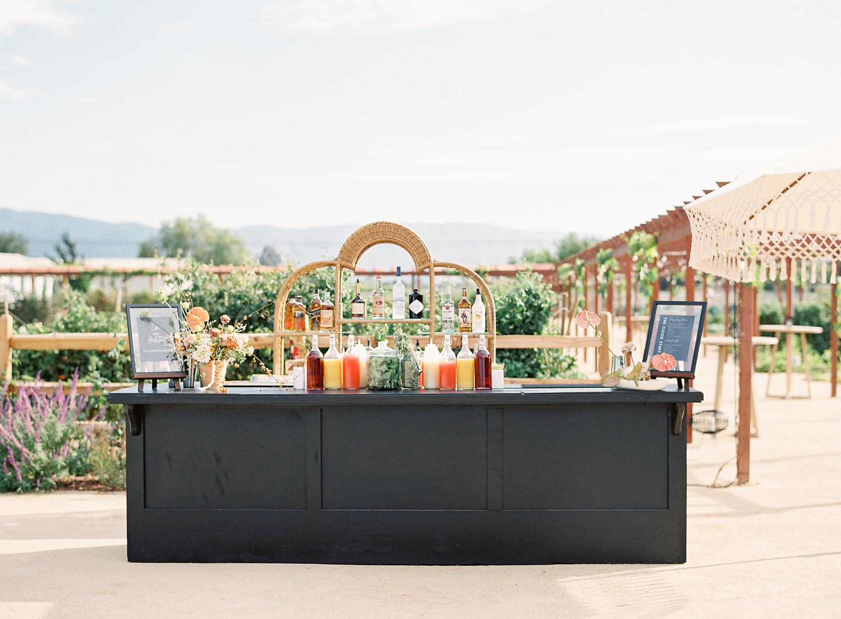 black outdoor bar