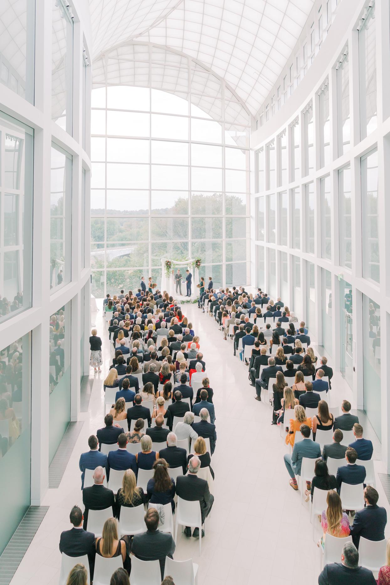 floor to ceiling windows wedding ceremony venue