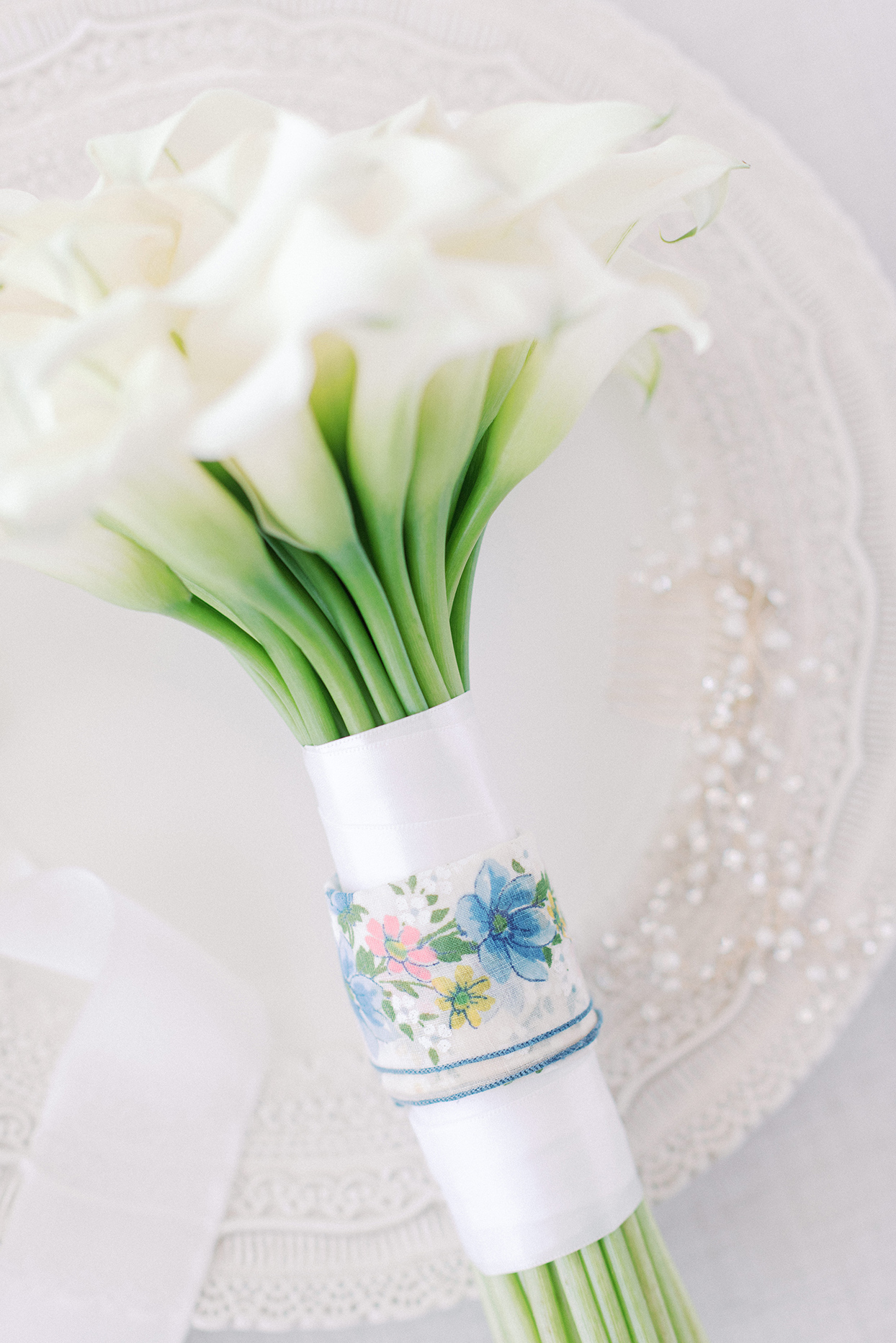 Wedding bouquet of Calla lillies