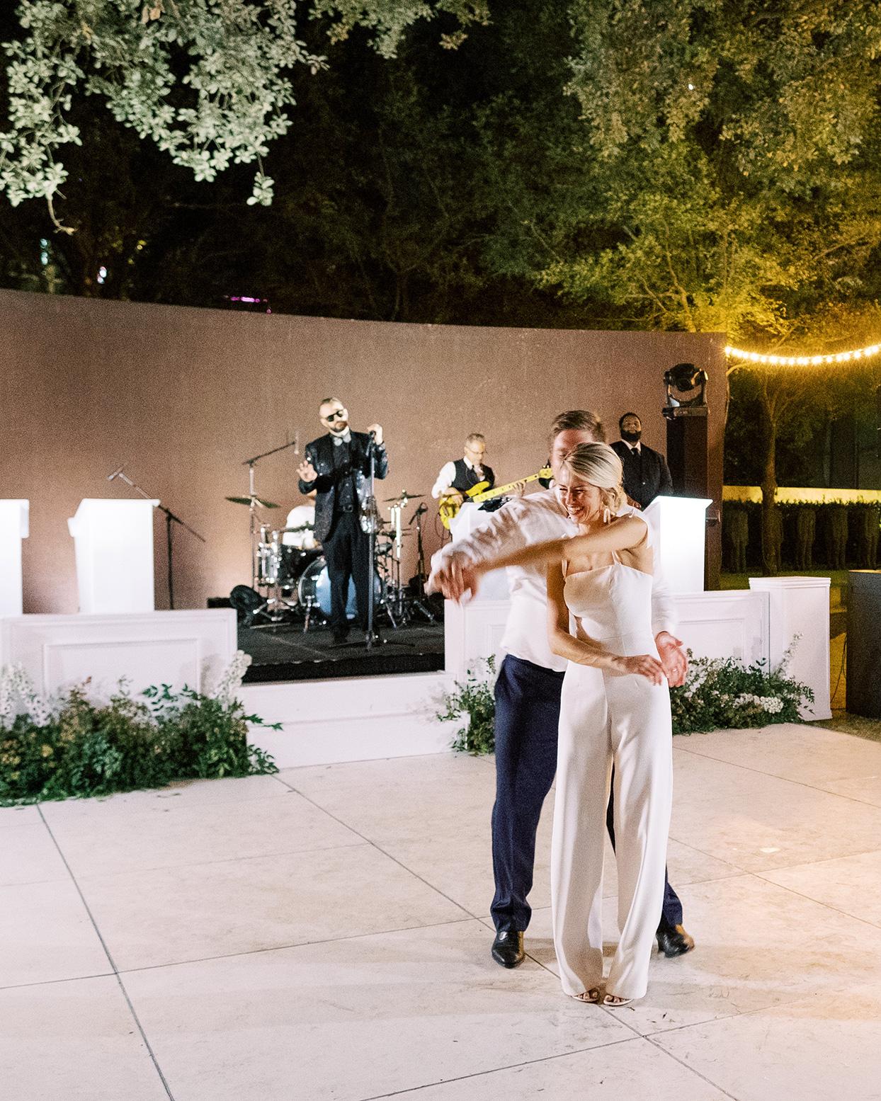 bride and groom reception last dance