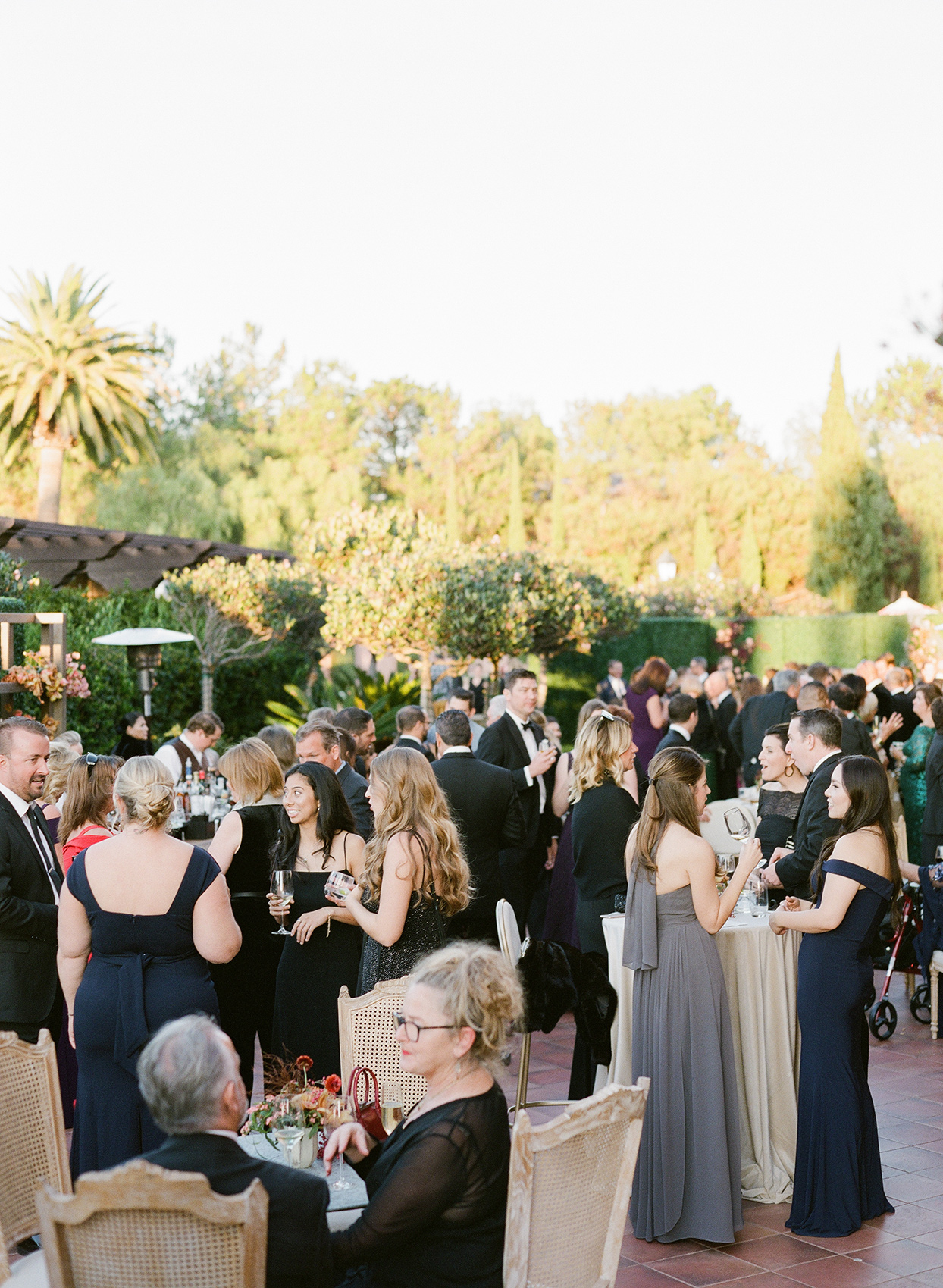 guests socializing during outdoor cocktail hour