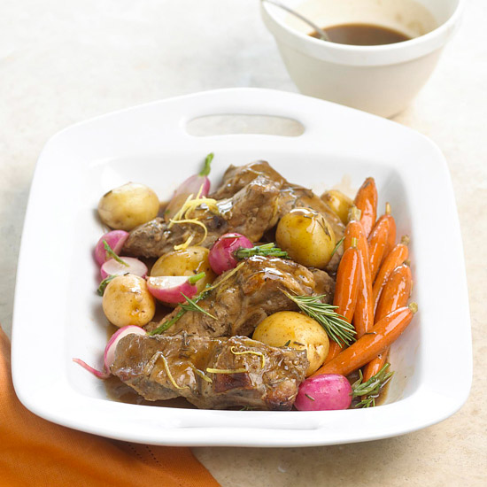 Ale-Sauced Pork Ribs and Vegetables