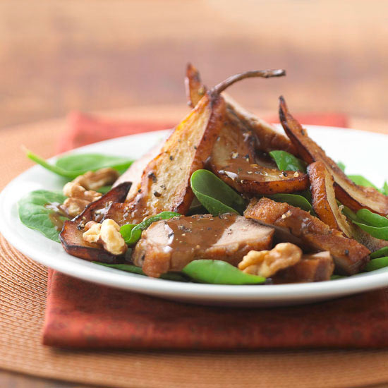 Duck Breast with Pears and Balsamic Vinaigrette