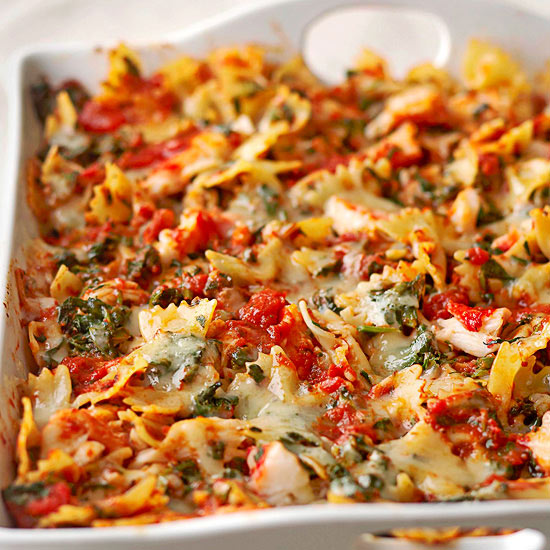 Crab and Spinach Pasta with Fontina