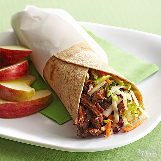 Barbecue Beef Wrap