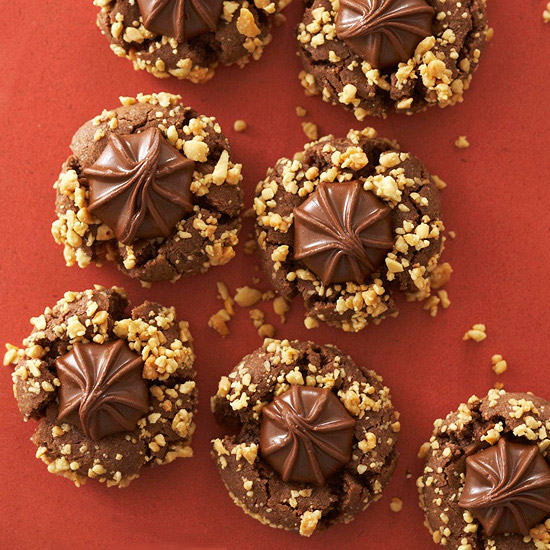 Chocolate-Peanut Butter Blossoms