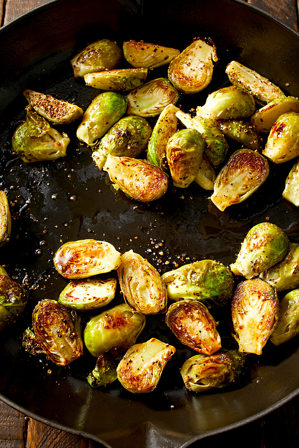 Brined Skillet-Roasted Brussels Sprouts