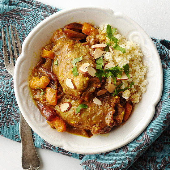 Moroccan Tagine-Style Chicken Thighs