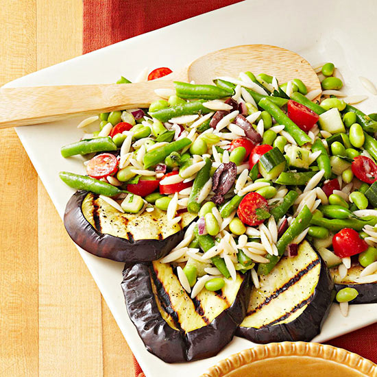 Greek-Style Orzo and Double-Bean Salad