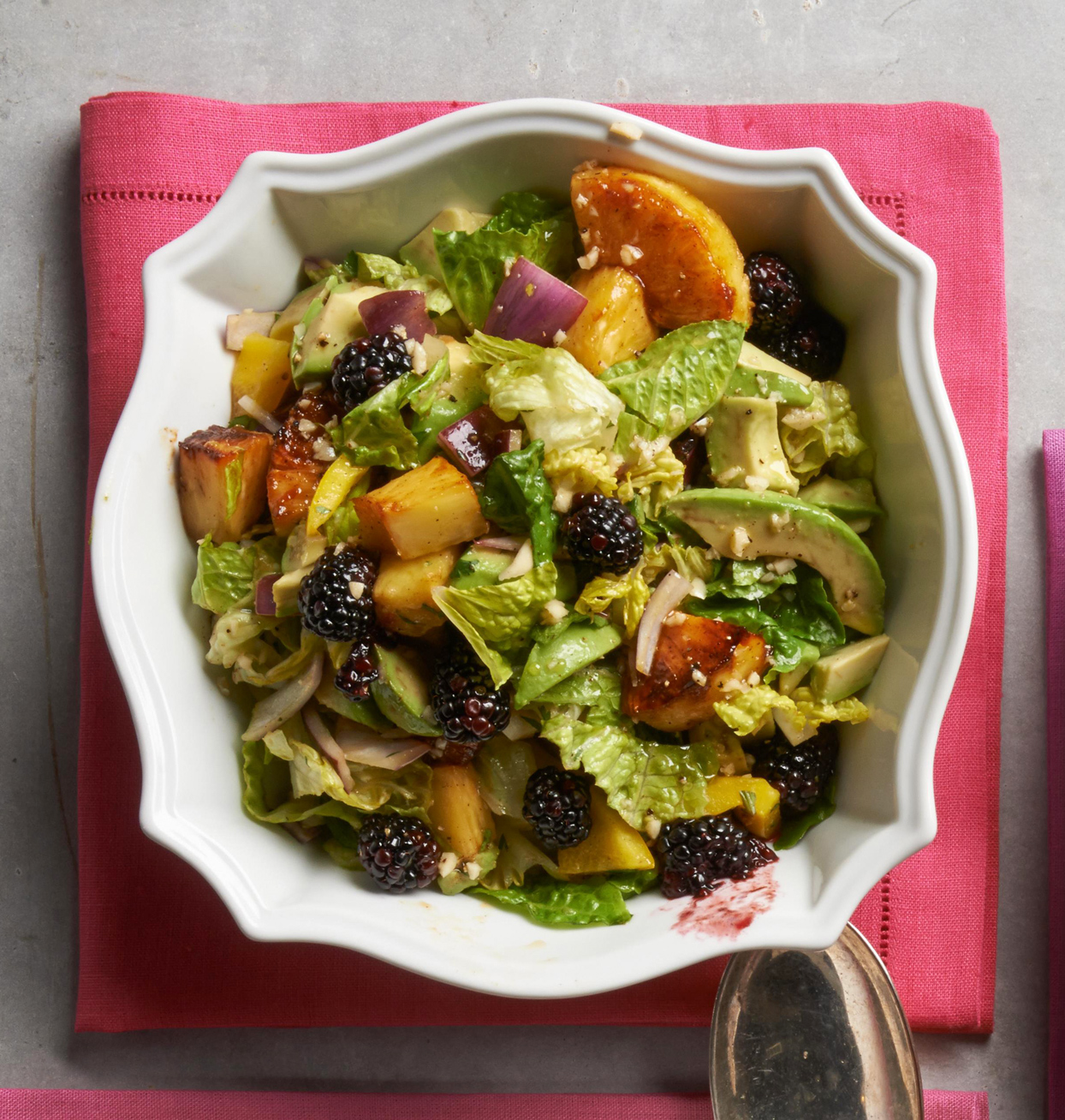 Avocado and Caramelized Pineapple Salad