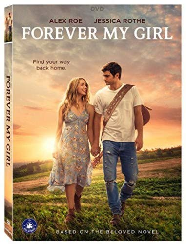 Movie poster of Forever My Girl, two people walking at s unset