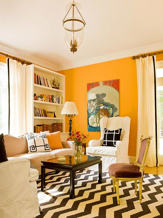 Decorating with Orange Walls | Better Homes & Gardens