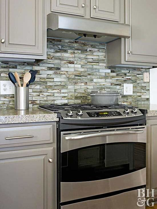 Recycled Gl Tile Backsplash