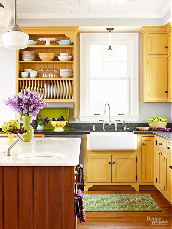 Two Tone Kitchen Cabinets Better Homes Gardens