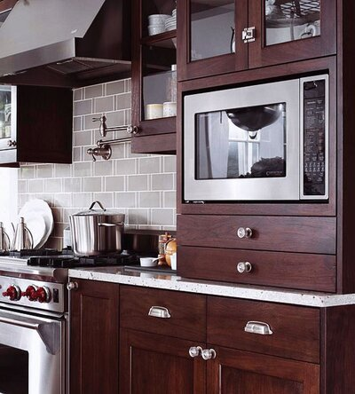 Peachy How To Integrate A Microwave Better Homes Gardens Download Free Architecture Designs Grimeyleaguecom